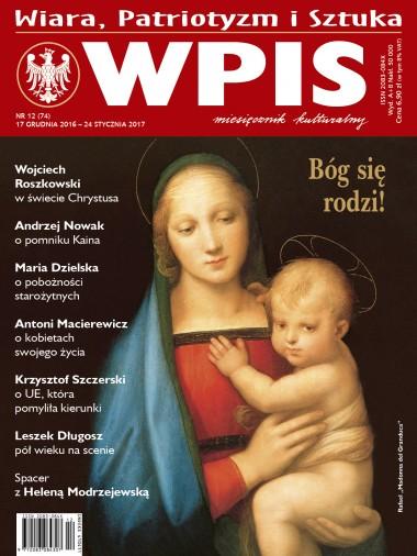 Wpis - miesięcznik - prenumerata kwartalna już od 6,90 zł